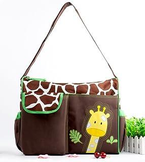 HYLong Green Giraffe Multifunctional Baby Diaper Nappy Changing Bag Mummy Handbag