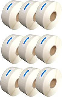 L LIKED Blank White 1 x 2 Inch Dissolvable Labels for Food Rotation Prep roll of 500 (9 Rolls)