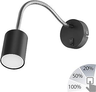 Schalter LED 1W 230V rot,GU10,Leselampe,Strahlerlampe Steckerlampe