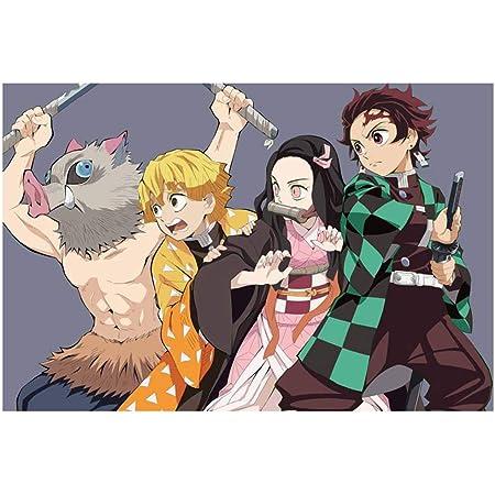 Darren May Anime Demone Slayer Poster Decorazione Personaggio Manga Carta da Parati Poster Decorazione Casa Regalo di Compleanno (H08)