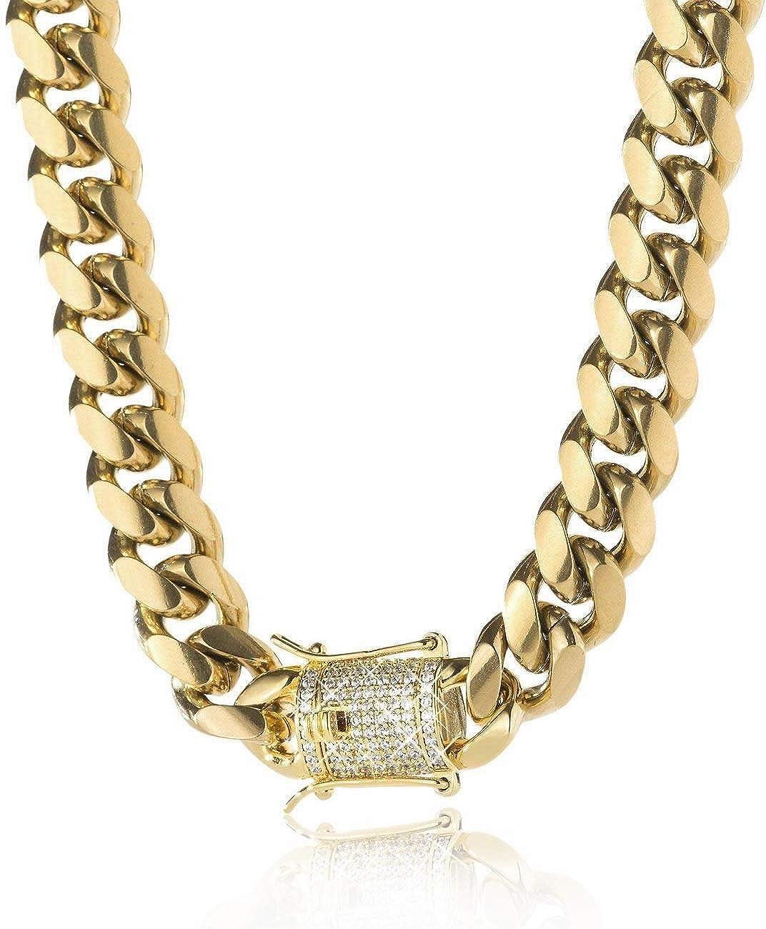 Max 55% OFF shipfree TRIPOD JEWELRY 14K Gold Plated Miami w Link Cuban Bracelet Chain