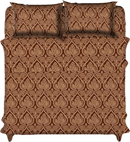 Lux Decor Collection Bed Sheet Set - Pattern Microfiber 1800 Bedding - Wrinkle, Stain and Fade Resistant - Hypoallergenic - deep Pocket Queen Bed Sheets -6 Piece (Queen, Paisley Brown)