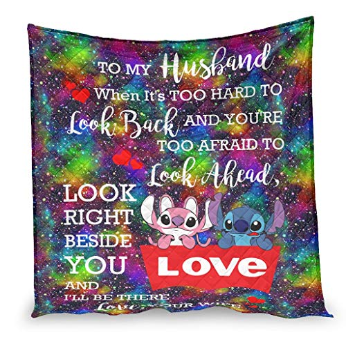 YshChemiy To My Husband Swtitch - Colcha gigante de algodón para sofá cama, manta ligera, ropa de cama, ropa de cama personalizada, para mujeres y hombres, color blanco 230 x 280 cm