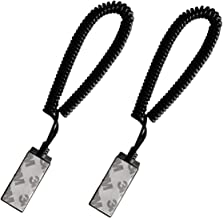 [PiBridge] 2 x Remote Control Security Lock Anti Theft Lock, Tether for Remote Control (Black 4 feet 2 Pack)