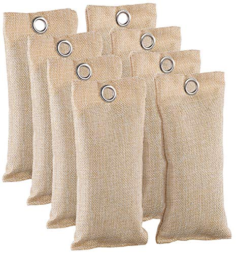 newgen medicals Geruchsabsorber: 2in1-Schuh-Erfrischer mit Bambus-Aktivkohle, geruchsmildernd, 8x 75 g (Bambuskohlebeutel)