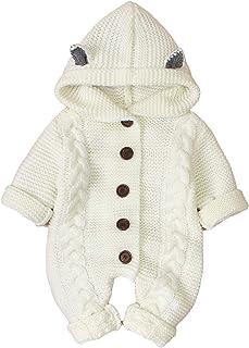 Haokaini jouets à tricoter pour nouveau-nés pour bébés combinaison d'hiver plus chaude pour garçons filles