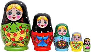 "Matryoshka Wooden Dolls /""The Nightmare Before Christmas/"" 5 pcs hand painted #9"