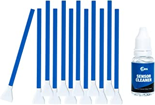 UES DSLR or SLR Digital Camera Cleaning Swab for APS-C Sensors, Blue, 12 swabs + 15ml Cleaner (DDR-16)