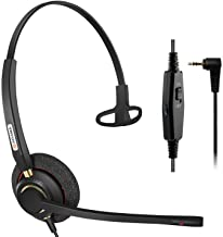 Arama Phone Headset with Noise Cancelling Microphone, 2.5mm Telephone Headset for Cordless Phones Panasonic AT&T Vtech Uni... photo