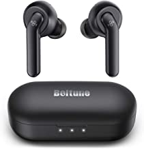 Wireless Earbuds Active Noise Cancelling, Boltune Bluetooth Earbuds with 4 Mics, Smart Noise Reduction for Clear Calls, Enhanced Deep Bass, IPX8 Waterproof, USB-C Quick Charging Case