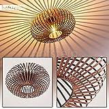 Lámpara de techo Oravi en metal color cobre - Lámpara extravagante con llamativos efectos de sombra e iluminación en el techo - lámpara para salón - pasillo - pasillos - dormitorios