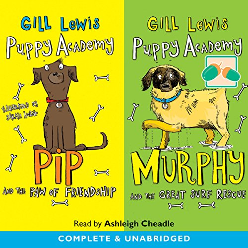 Puppy Academy: Pip and the Paw of Friendship & Murphy and the Great Surf Rescue audiobook cover art