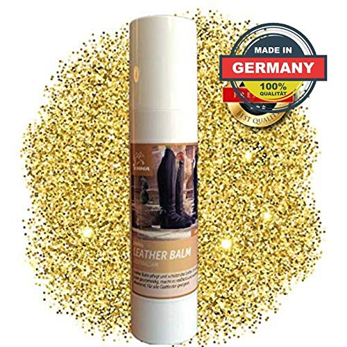 EMMA ♥ Lederbalsam - Lederpflege für Sattel und Trense, Stiefel, Schuhe, Motorradkleidung, Autoleder, Taschen & Möbeln etc. 200 ml