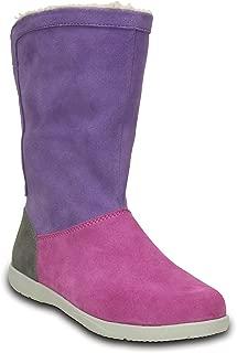 Crocs Women's Adela Foldover Fuzz Snow Boot