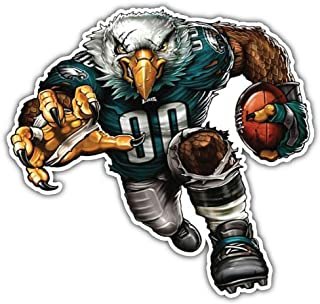 Sport Philadelphia Eagles NFL Mascot Car Bumper Sticker Decal 5'' X 5''
