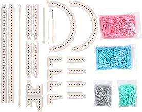 Juego de telares de tejer redondos, tabla de tejer larga multifunción Weave Loom Craft Kit Tool Máquina de tejer Kit de telar Telares de telar Telar de punto rápido para sombrero Bufanda Manual