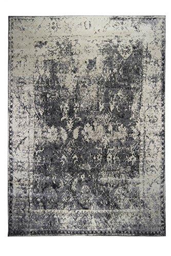 Luxor Living Vintageteppich Rossini, Verschiedene Designs, gewebt, hohe Qualität, Farbe:Grau, Größe:80 x 150 cm