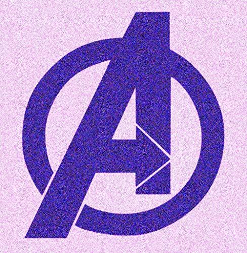 Marvel Avengers Stencil Mylar Comic Kids Teen Room Décor Stencils