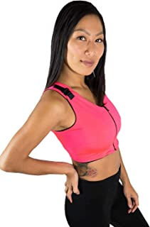 Brilliant Contours Post Surgical Comfort Compression Sports Bra: Hot Pink Dragonfly