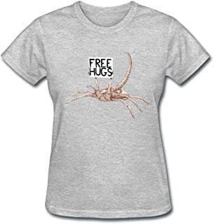 Funny Alien Scorpion Beg Free Hugs Cotton Funny T Shirt Women