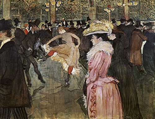 AFDRUKKEN-op-GEROLDE-CANVAS-Aan-de-Moulin-Rouge:-The-Dance-Toulouse-Lautrec-Henri-Dans-Afbeelding-gedruckt-op-canvas-100%-katoen-Opgerolde-canvas-print-Kun-Afmeting-53_X_70_cm