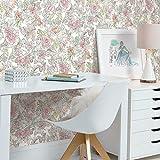 RoomMates RMK11800WP Pink Disney Princess Royal Floral Peel and Stick Wallpaper
