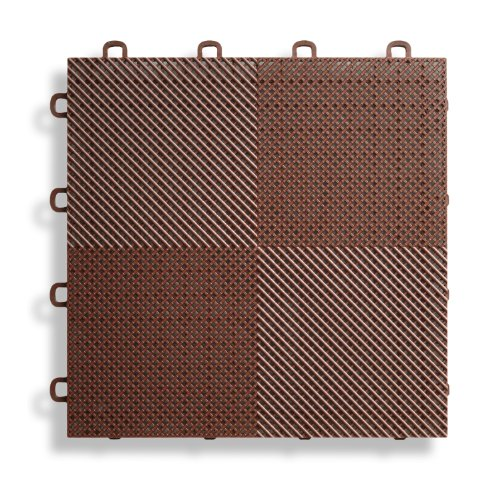 BlockTile B2US5230 Deck and Patio Flooring Interlocking Tiles Perforated Pack,...