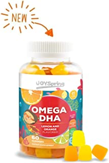 Omega 3 for Kids Gummies - DHA for Kids - Great Tasting Kids Omega 3 Gummies - Gluten Free Brain Food and Speech Support for Toddlers - No Fishy Taste - Made by Parents