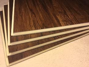 8.7mm Click Lock; 28 mil wear Layer; Luxury Vinyl Plank Flooring 100% Waterproof w/EVA underpad: $0.99+/sqft - Metro Brown - Sample
