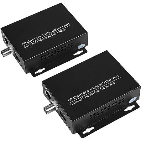 1 Paar Ethernet Ip Extender Für Koaxialkabel Tv Kamera Hd Stabile Übertragung Signal Verlustfreie Koaxial Cctv Kabel Kit Eoc Koaxialkabel Baumarkt