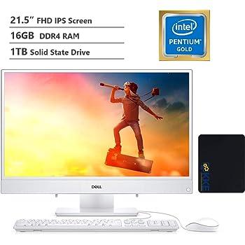 "2020 Dell Inspiron 22 All-in-One Desktop Computer 21.5"" FHD IPS Display, Intel Pentium Gold Processor 5405U, 16GB DDR4 RAM, 1TB SSD, HDMI, Wireless-AC, Bluetooth, KKE Mousepad Bundle, Win10"