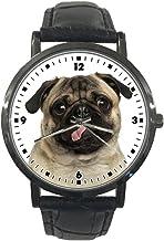 jkfgweeryhrt Wrist Watch - Fashion Leather Strap Watch, Analog Quartz Sport Stainless Steel Case Wrist Watch