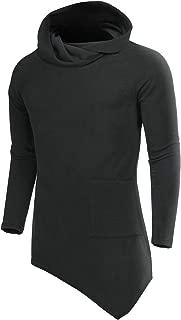 COOFANDY Men's Casual Slim Fit Turtleneck Basic Tops Long Sleeve Novelty Hoodie Pullover Sweaters