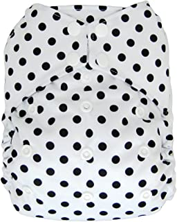 All-in-one Cloth Diaper Shell, Snap Buttons, One Size AIO (Polka Dot)