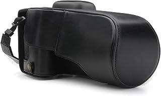 MegaGear Estuche Ever Ready Funda de Cuero de Pronto Uso con Correa Compatible con Canon EOS 800D 77D 9000D (18-135mm)