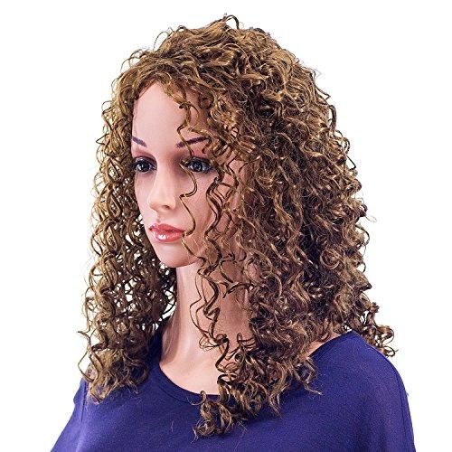 SWACC 20-Inch Long Big Bouffant Curly Wigs for Women Synthetic Heat...