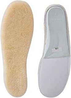 ABUSA Sheepskin Insoles Men's & Women's Premium Thick Wool Fur Fleece Inserts Cozy & Fluffy