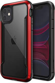Defense Shield, iPhone 11 Case - Military Grade Drop Tested, Anodized Aluminum, TPU, and Polycarbonate Protective Case for Apple iPhone 11, (Red)