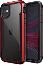 Defense Shield Series, iPhone 11 Case - Military Grade Drop Tested, Anodized Aluminum, TPU, and Polycarbonate Protective Case for Apple iPhone 11, (Red)