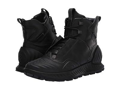 ECCO Sport Exostrike Hydromax(r) Primaloft Mid Boot (Black/Black) Men