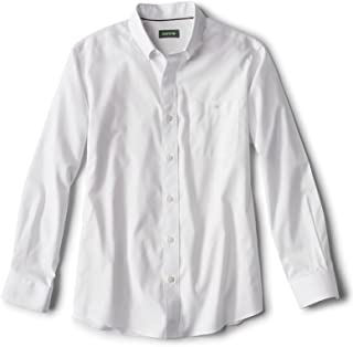 Men's Solid Pinpoint Wrinkle-Free Comfort Stretch...