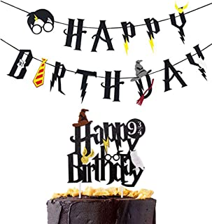 Harry Potter Happy Birthday Banner Party Supplies Happy Birthday Cake Topper Felt Garland Party Decoration