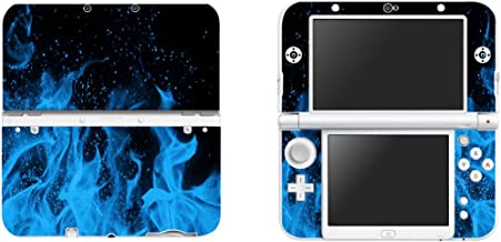 eSeeking Vinyl Cover Decals Skin Sticker for New Nintendo 3DS XL / LL - Ice Blue Flame