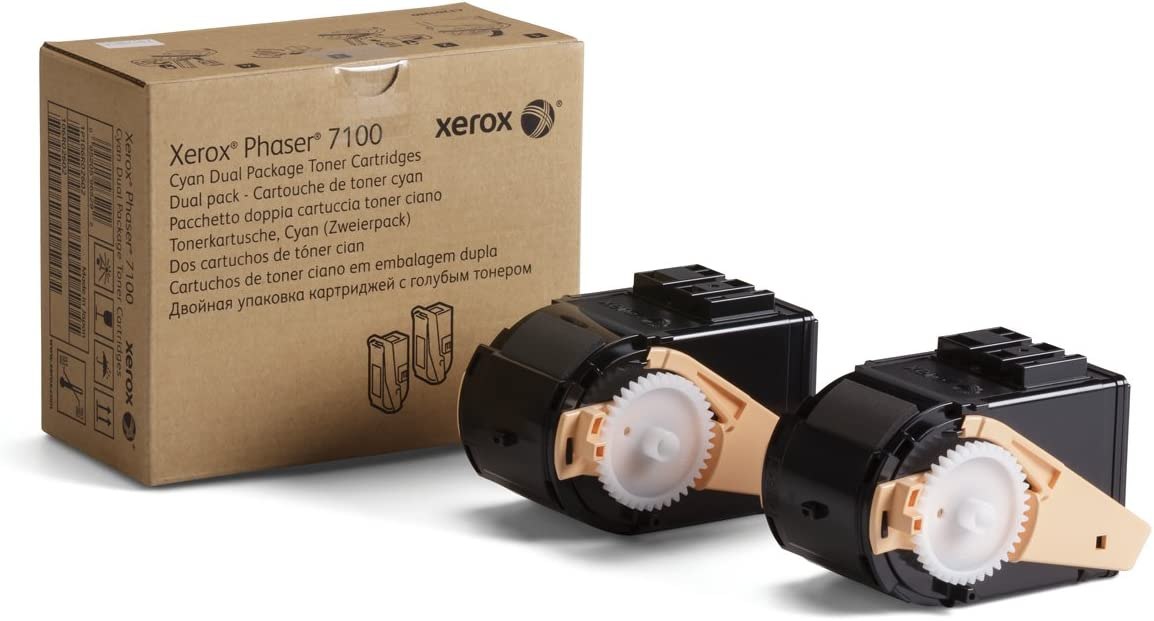Xerox Phaser 7100 Cyan High Capacity Toner Cartridge (9,000 Pages) - 106R02602
