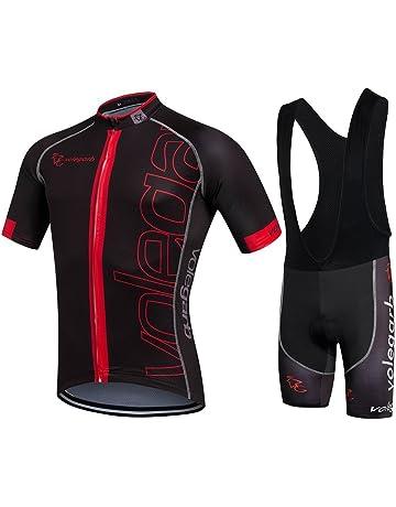Conjuntos de Ciclismo Ropa Hombre Arn/és Ciclismo Traje de oto/ño e Invierno Calor y Transpirable Hombres y Mujeres Traje de Manga Larga Ciclismo Jersey Fleece Color : Red, Size : X-Small