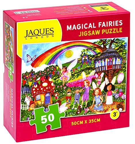 Jaques of London Magical Fairy Garden Puzzle - Fairy Garden Puzzle de 50 Piezas 2018 - Un Gran Rompecabezas para niños de 5 años - 50 Piezas