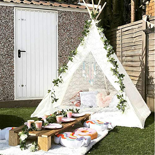 Huge Teepee, Avrsol 85 inch Height Luxury Lace Teepee Tent for Adult Super Large - New Version