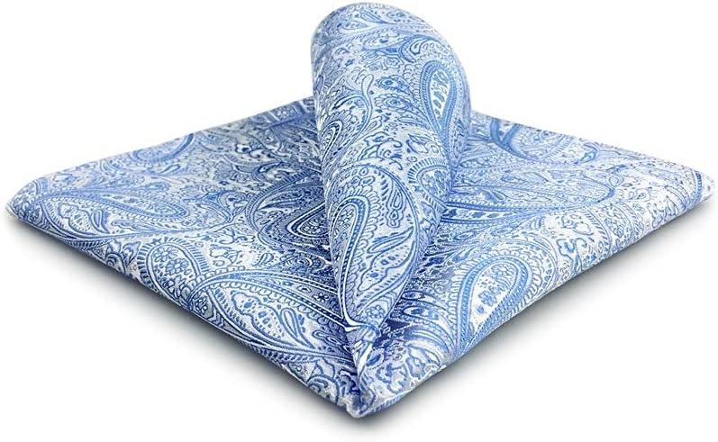 GYZCZX Mens Pocket Square Wedding Silk Handkerchief Party Hanky Classic Fashion (Color : C, Size : 32x32CM)