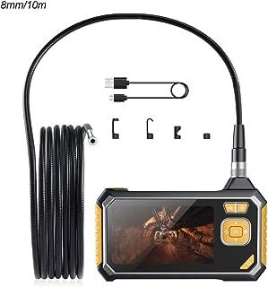 HUTACT Endoscope WiFi 16,4ft//5M Semi-Rigide 2,0 m/égapixels HD 1080P Cam/éra Endoscopique 8 LED 8mm Serpent cam/éra IP68 /étanche Flexible Compatible pour iOS//Android//iphone