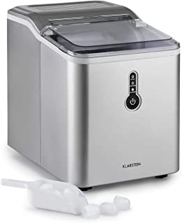 KLARSTEIN Chillout - Machine à glaçons, 12 kg de Glace par Jour, Cycle de Production: 8 Min, réservoir d'eau: 1,5 l, Machi...